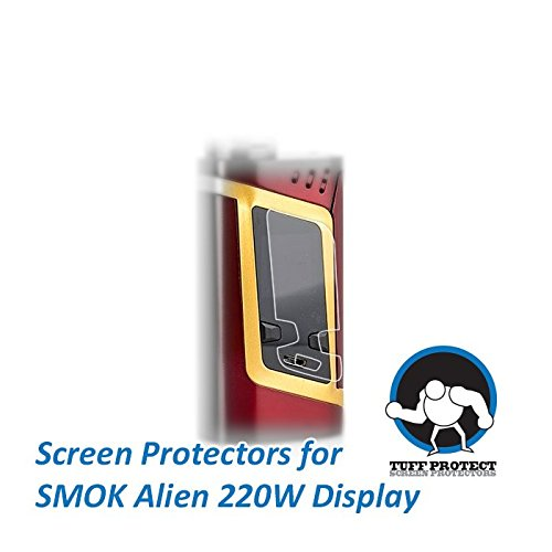 Tuff Protect Clear Screen Protectors For SMOK Alien 220W Touch Screen, High Clarity, 3pcs