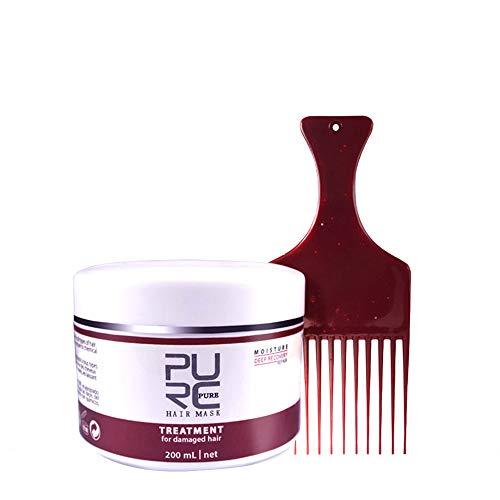 Hair Masque-Magic Hair Masque Traitement Nourrissant - Revitalisant Capillaire Lissant Nutritionnel Pour Les Cheveux Profonds, Masque Réparateur, Sans Traitement à La Vapeur Serria