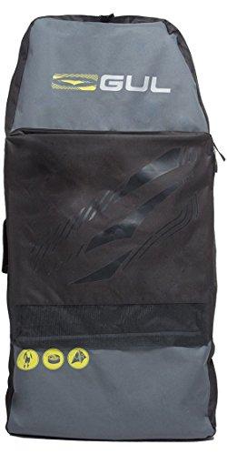 GUL Arica Bodyboard-Tasche in Schwarz Gelb Lu0127-B2 - Unisex - Verstellbare Schultergurte - Fronttasche mit Reißverschluss und Drainagelöchern