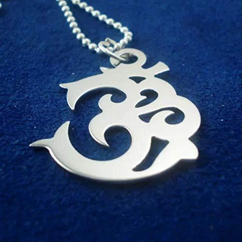 niuziyanfa Co.,ltd Om Sacred Collar Collares con símbolo único Joyas de Acero Inoxidable Hombres y Mujeres
