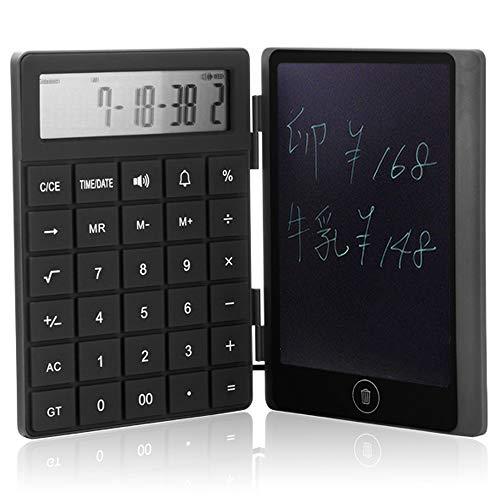 [island-banana] 電卓メモ 電子メモパッド 電子メモ デジタルメモ ワンタッチ消去 ペン付き USB 充電可 (黒)