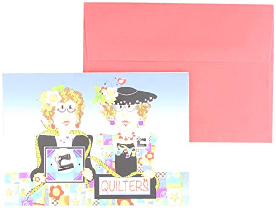 Jody Houghton Designs GC22 Quilters Sewing Machine Greeting Card, Varies