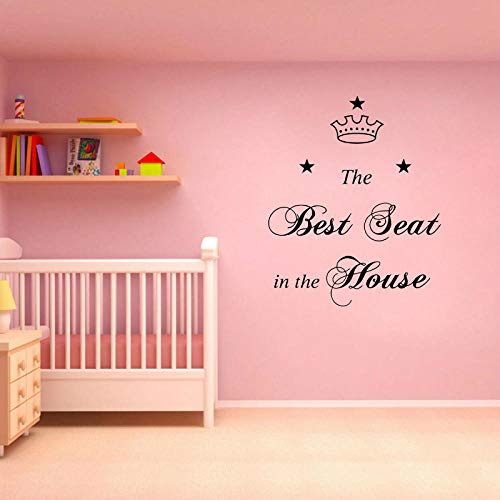 Wall Sticker for Living Room Bedroom Decor Art Home Decoration Family Where Life Begins and Best Seat in The House PVC 56.2CMx69CM