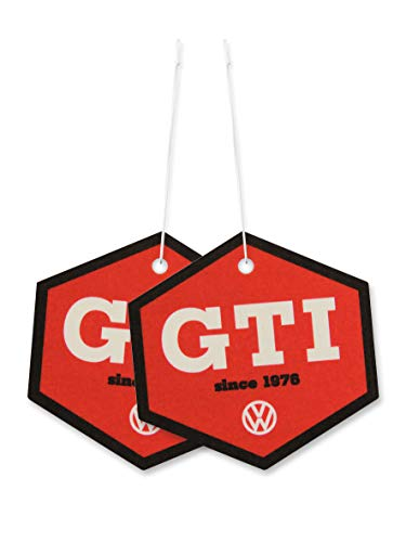 BRISA VW Collection - Volkswagen Golf GTI Scented Car Air Freshener Fragrance Deodorizer for Car/Auto or Home (Hexagon/Cocos/Since 1967/2-pc Set)