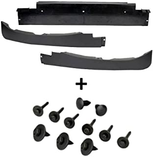C6 Corvette Front Lower Complete Spoiler 3 Sections with Mount Hardware Fits: 05 through 13 Corvettes