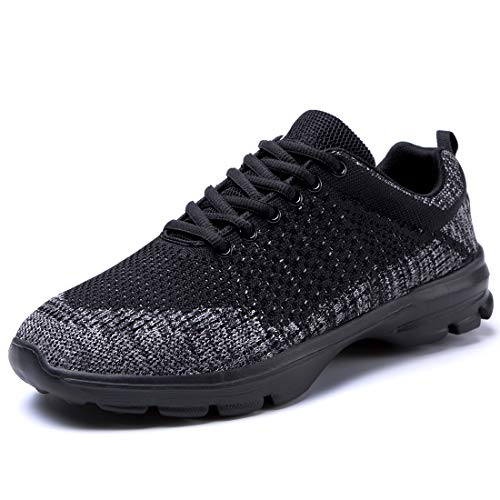 MOXOCO Sneakers, Sports Shoes, Running, Training, Jogging, Walking Shoes, Casual, Breathable, Lightweight, Athletic Shoes, Men's, Women's, For Commuting to Work or School, Everyday Wear - black