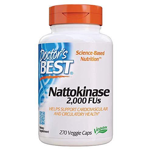 Doctor's Best, Nattokinase, 2.000 FUs, 270 Cápsulas veganas, sin gluten