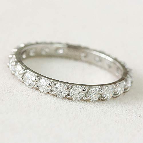 One&Only Jewellery【鑑別書付】1ct ダイヤモンド Pt900 プラチナ フルエタニティ リング 一文字 指輪 4月誕生石