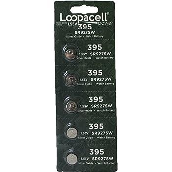 Loopacell 395/399 Silver Oxide 5 Batteries (SR927W / SR927SW)