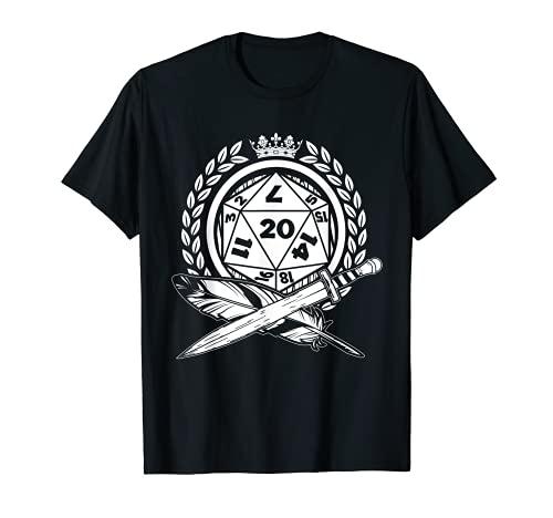 Fantasy D20 Würfel RPG Rollenspiel | Spielleiter Game Master T-Shirt