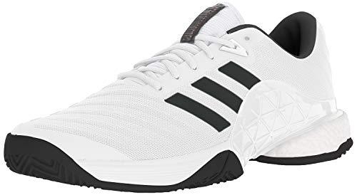 adidas Men's Barricade 2018 Tennis Shoe, Core Black/White/Scarlet, 9 M US