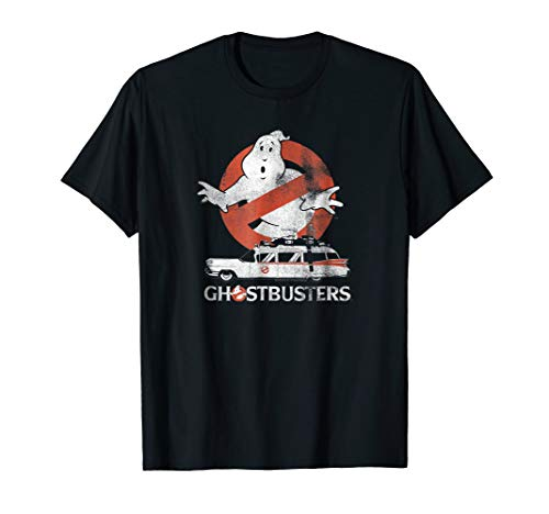 Ghostbusters 80s Logo and ECTO-1 mobile T-shirt - S to 2XL