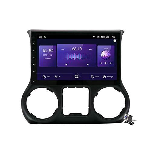 Android 10.0 Coche Estéreo GPS, Radio para Jeep Wrangler 3 JK 2011-2017 Pantalla táctil de navegación Unidad de cabeza Táctil MP5 Reproductor multimedia Video Receptor con 4G / 5G WIFI DSP RDS FM Mirr