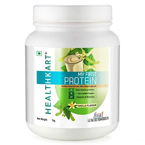 Healthkart My First Protein, Beginners Protein With Whey & Casein (Vanilla-1Kg)