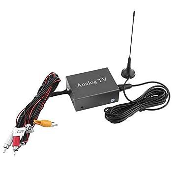 Enrilior Car Mobile DVD TV Receiver Analog TV Tuner Strong Signal Box with Antenna Remote Controller