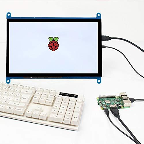 Monitor HDMI de 7 Pulgadas, Pantalla táctil de resolución 1024x600 IPS Pantalla de visualización de 178 ° sin Controlador para Monitor de computadora Raspberry Pi, Interruptor de luz de Fondo