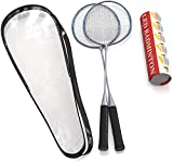 Trained Premium Quality Set of Badminton Rackets, Pair of 2 Rackets, Lightweight & Sturdy, with 5 LED...
