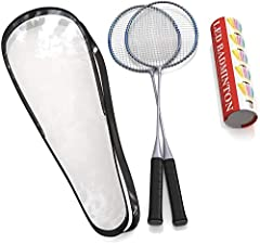 PREPARE TO ACE! – With our top quality, badminton racket you will certainly rule the court! And our package includes a set of two, so you can give the second one to your significant other and start training to enter doubles tournaments! Also makes a ...