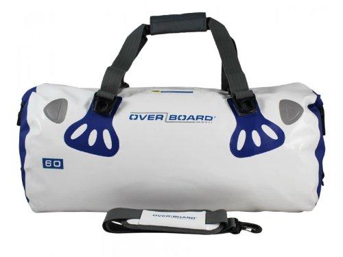 Overboard OB1013WHT - Borsone da viaggio impermeabile Boatmaster, colore bianco, capacità 60 l