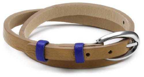Esprit Damen Armband Edelstahl Leder 38 cm braun ESBR11336B380