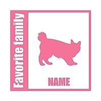 ForzaGroup 全犬種 全猫種対応 アメリカンボブテイル (134-138) 猫 ネコ 車 ステッカー 名前入れ