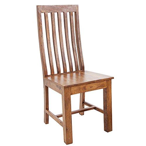 Invicta Interior Massivholz Stuhl MAKASSAR 95cm Sheesham Holzstuhl Massivholz Esszimmerstuhl Stühle