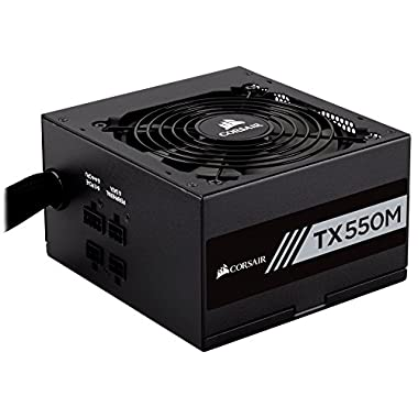 CORSAIR TXM Series, TX550M, 550 Watt, Semi Modular Power Supply, 80+ Gold Certified