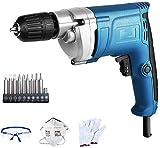 ZY Cordless Drill Elettrico, 220V Ingegneria Elettrica Drill Set, Streamlined Corpo Disegno ergonomico, 0-1750R / min velocità a Vuoto (Colore: Standard) LOLDF1 (Color : Package 2)