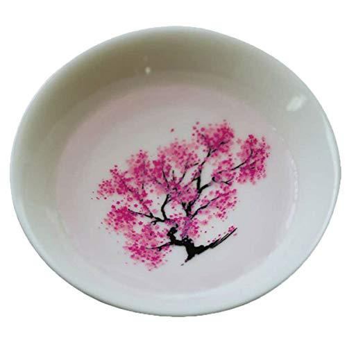 Magic Sakura Sake Cup, Farbwechsel mit kaltem / heißem Wasser - See Peach / Sakura / Plum Flowers Bloom, Magisch Sakura Blossom Tea Bowl, Geschenk für Freunde Familie (Sakura)