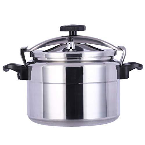 Autocuiseur pot antidéflagrants commerciale capacité de haute pression hôtel en acier inoxydable cuisinière domestique pression Cuisinière multi-9L-50L (Color : Silver, Size : 11L)