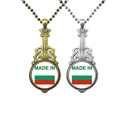 Made in Bulgarien Country Love Musik Gitarre Anhänger Schmuck Halskette Anhänger Paar