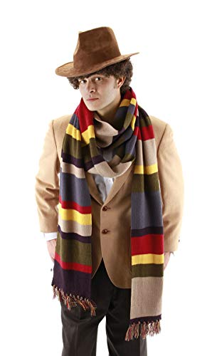 Fourth Doctor Who Long Scarf Standard Brown