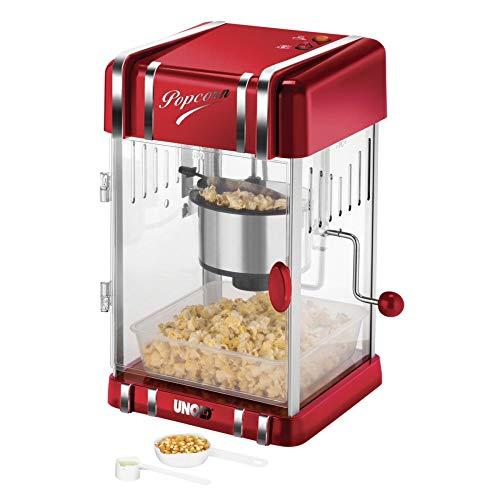 Unold Retro 300W Rot Silber Popcorn Popcorn Maker - (300W, 220-240, 50/60, 250x286x433mm, 3,2 Kg)