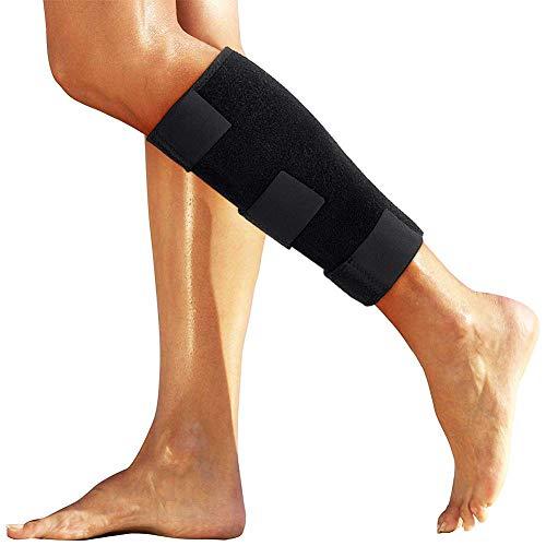 DOACT Muslo Compresion Soportes Ajustable Muslo de Apoyo Adecuado para Aliviar el Dolor de Pierna Aliviar Espasmos Musculares e Inflamación de Tendones por Tendinitis (Negro B)