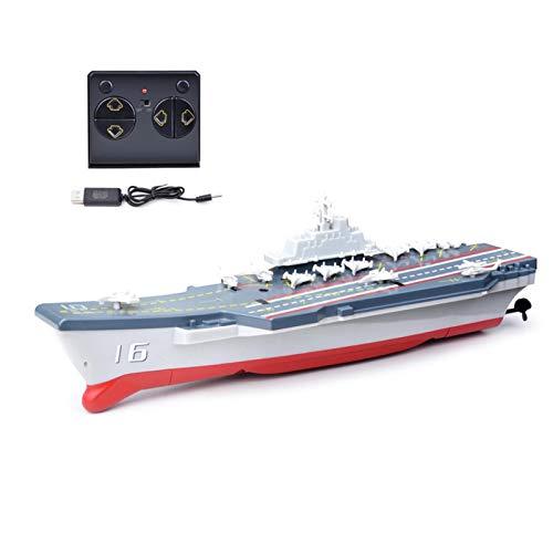 Aosong Juguete eléctrico de crucero, 2,4 G, minibarco teledirigido, inalámbrico, juguete de agua para niños, con diseño de rotación de 360 grados, para niños y niñas a partir de 7 años