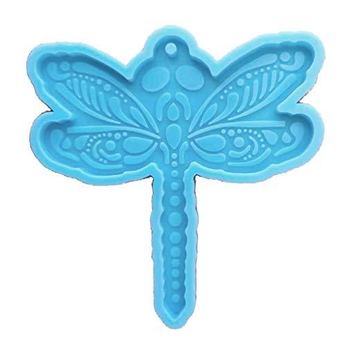 GREEN&RARE Molde de resina con diseño de libélula, diseño de guantes, de silicona, con forma de letra DAD, para herramientas de manualidades de resina