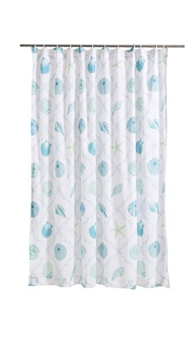 Levtex Marine Dream Seaglass Shower Curtain, Blue, Taupe, Coastal