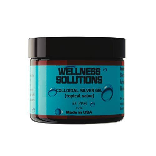 Colloidal Silver Gel - Wellness Solutions - Topical Gel - Vegan & Gluten Free - 2 oz.