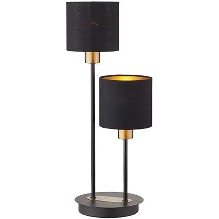 WeeLion Noir cr/éatif Nordique Style Minimaliste de Lecture LED Lampe de Table en Alliage mat/ériel-Salon Lampe//Bureau//Chambre//Chevet AJ Lampe de Table