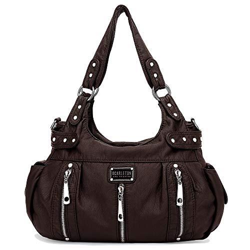 Scarleton Satchel Handbag for Women, Purses for Women, Shoulder Bags for Women, H129221 - Dark Brown