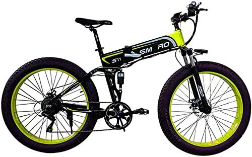 Bicicleta electrica 26 pulgadas Bicicleta eléctrica de neumático de grasa plegable de...