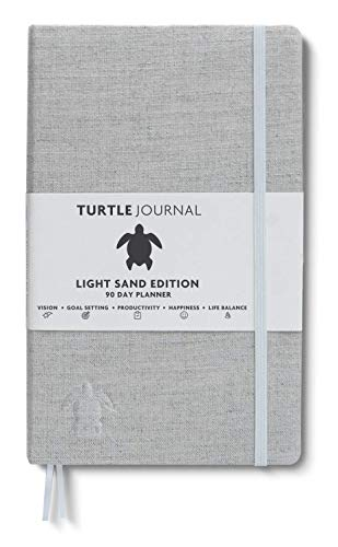 Life Changing Planner by Turtle Journal - Best Motivational Daily Planner and Daily Productivity Planner - Undated Planner and Goal Setting Journal - 5x8 Hardcover Planner in Light Sand
