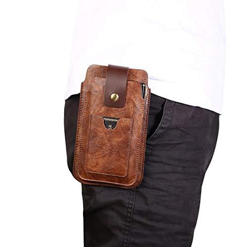 Funda del teléfono celular Cinturón de cuero bolsa de la pistolera con gancho, for hombre del bolso de la cintura Fanny Pack for iPhone 11 XR X Xs, Monedero Celular Funda Caso recorrido del monedero f