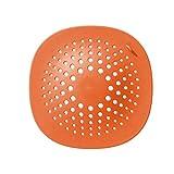 Y-H Filtro de fregadero de cocina Tapón de piscina Alcantarillado Filtro de pelo Anti-bloqueo Cubierta de drenaje de piso Ser de tres naranja