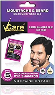 VCare Moustache and Beard Hair Color, Black, 5 ml, (Pack Of 10)