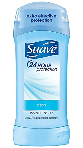Suave 24 Hour Protection Invisible Solid Deodorant for Women, Fresh - 5.2 oz - 4 pk