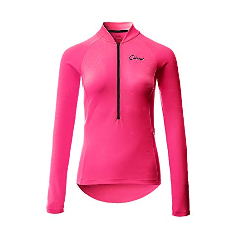 CATENA Maillot de Ciclismo Mujer Camiseta Manga Larga Jersey Ropa para Bicicleta...