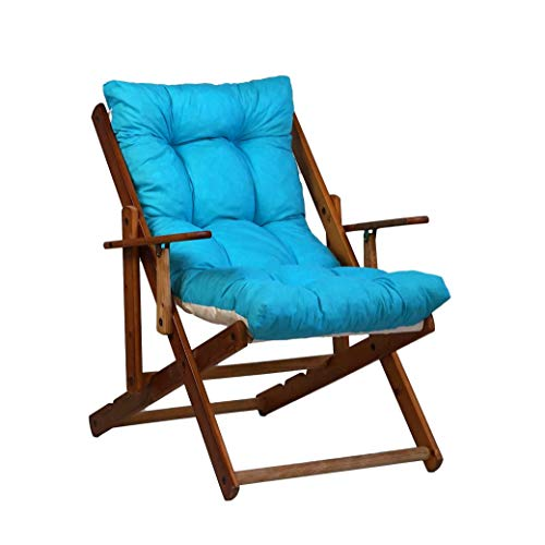 TecnoWeb Coussin de rechange pour fauteuil de détente, rembourré, couleur turquoise