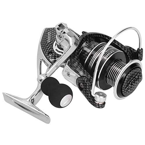 SALUTUYA Carrete Giratorio Resistente al Desgaste Plegable de una tecla, Accesorio de Pesca(GX3000)