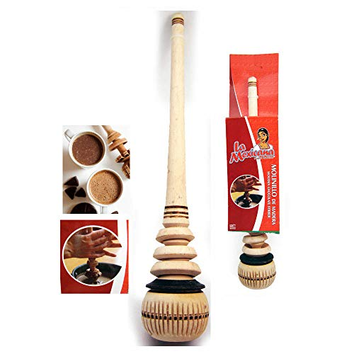 Wooden Whisk Stirrer Molinillo Mexican Chocolate Cocoa Mixer Stirrer Frother New